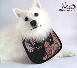 Нагрудник / слюнявчик для собаки малый водонепроницаемый Pets Couturier SIMBA бежевый, фото 2