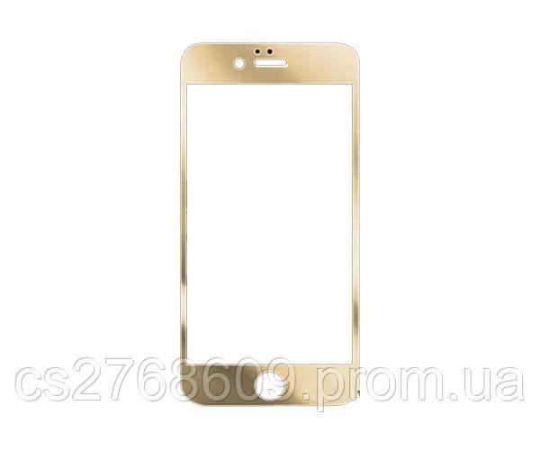 Защитное стекло захисне скло iPhone 5 золотий