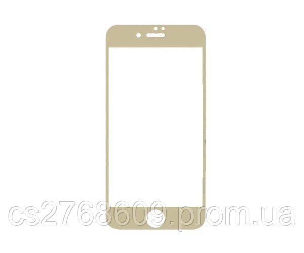 Защитное стекло захисне скло iPhone 7, iPhone 8 золотий повна проклейка
