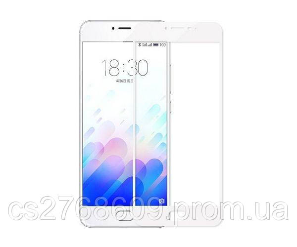 Защитное стекло захисне скло Meizu M5c білий (тех.пак)