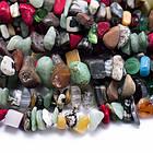 Бусины Ассорти Камней, На нитях, Крошка, Цвет: Микс, Размер: Длина 5~8мм, Ширина 5~8мм, Отверстие 1мм, около 80см/нить, (УТ0011399)