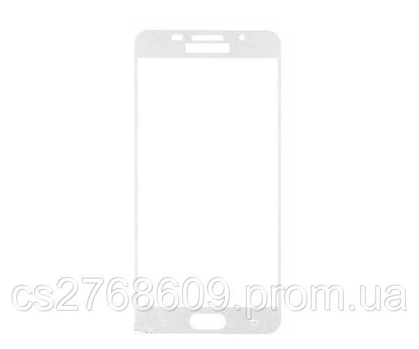 Защитное стекло захисне скло Samsung A510, A5 2016 білий