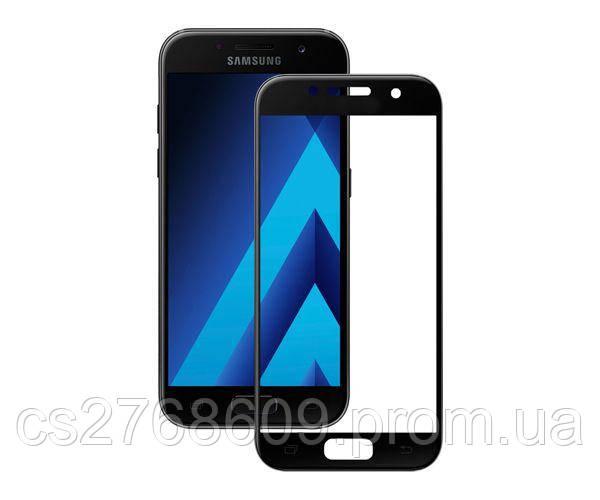 Защитное стекло захисне скло Samsung A720, A7 2017 чорний