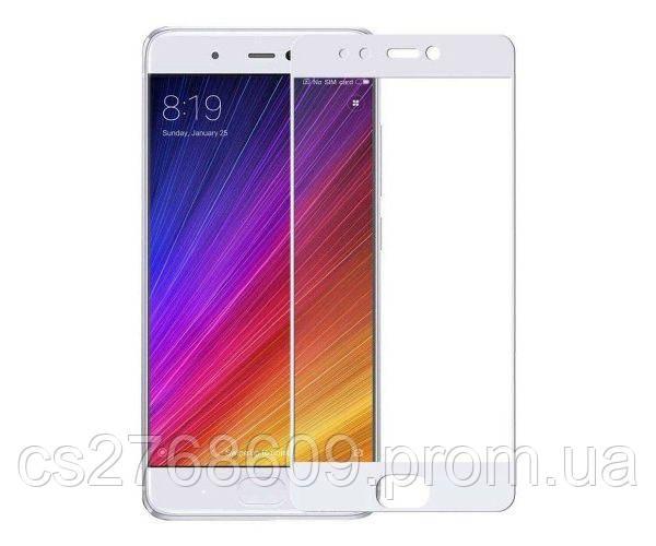 Защитное стекло захисне скло Xiaomi Mi5s білий (тех.пак)