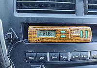 Часы и термометр в авто с выносным датчиком. На батарейках., фото 1