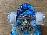 Скейт Penny Board, с светящимися колесами Пенни борд, детский , от 4 лет, расцветка Огонь и лед, фото 4
