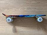 Скейт Penny Board, с светящимися колесами Пенни борд, детский , от 4 лет, расцветка Огонь и лед, фото 7
