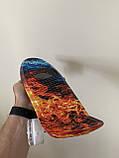 Скейт Penny Board, с светящимися колесами Пенни борд, детский , от 4 лет, расцветка Огонь и лед, фото 6