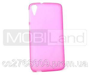 """Чехол силікон """"S"""" HTC Desire 828 рожевий"""