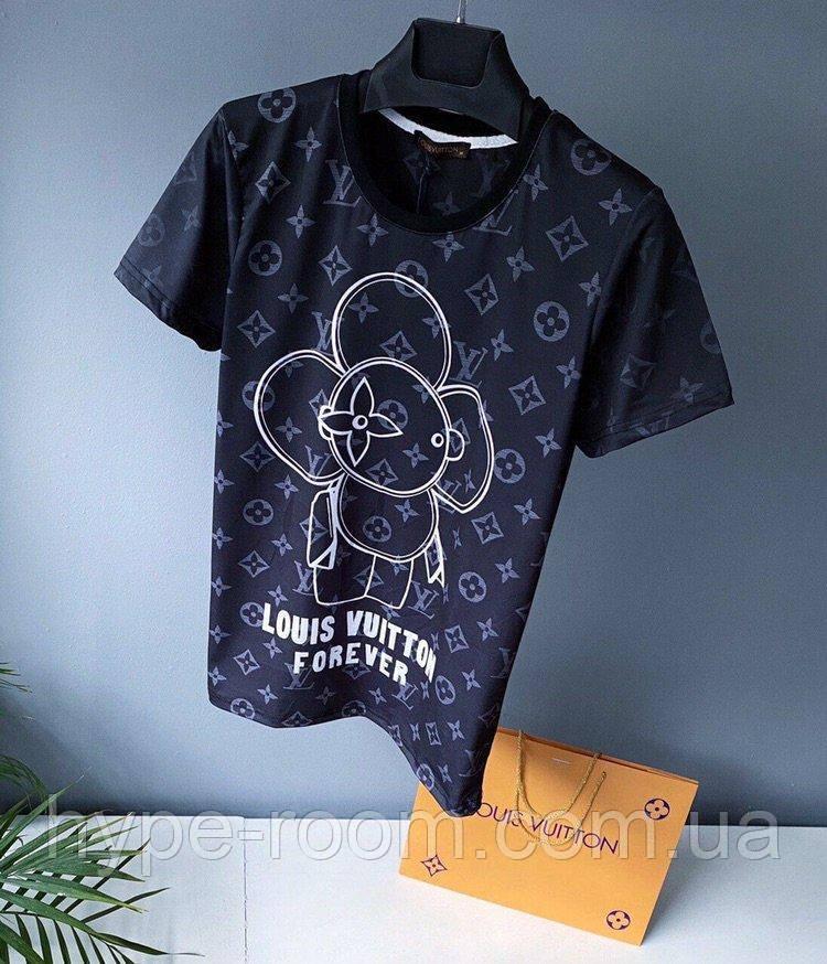 Чоловіча футболка у стилі Louis Vuitton чорна Люкс якість(розміри S,XL,XXL)