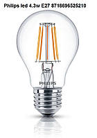 Лампа Philips LED 4,3 Вт E27 = 50 Вт