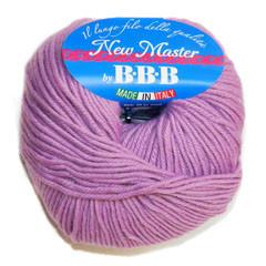 Пряжа для вязания НЬЮ МАСТЕР Италия цвет сирень 8997