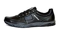 Чоловічі чорні кросівки демісезонні, прошиті