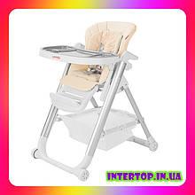 Детский стульчик для кормления с регулируемой спинкой Carrello Concord CRL-7402 Sand Beige бежевый