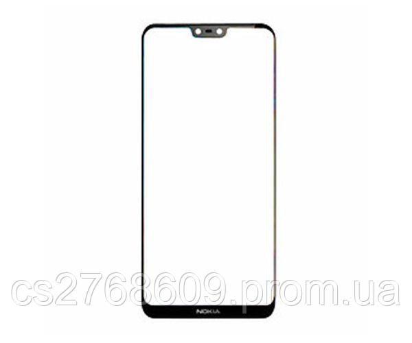 Защитное стекло захисне скло Nokia 6.1 Plus, X6 чорний 5D (тех.пак)