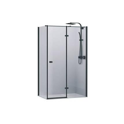 Кабіна душова, квадратна,права, розпашна, колір - чорний матовий, 90х90, без піддона, скло прозор FEN2110BR UP, фото 2