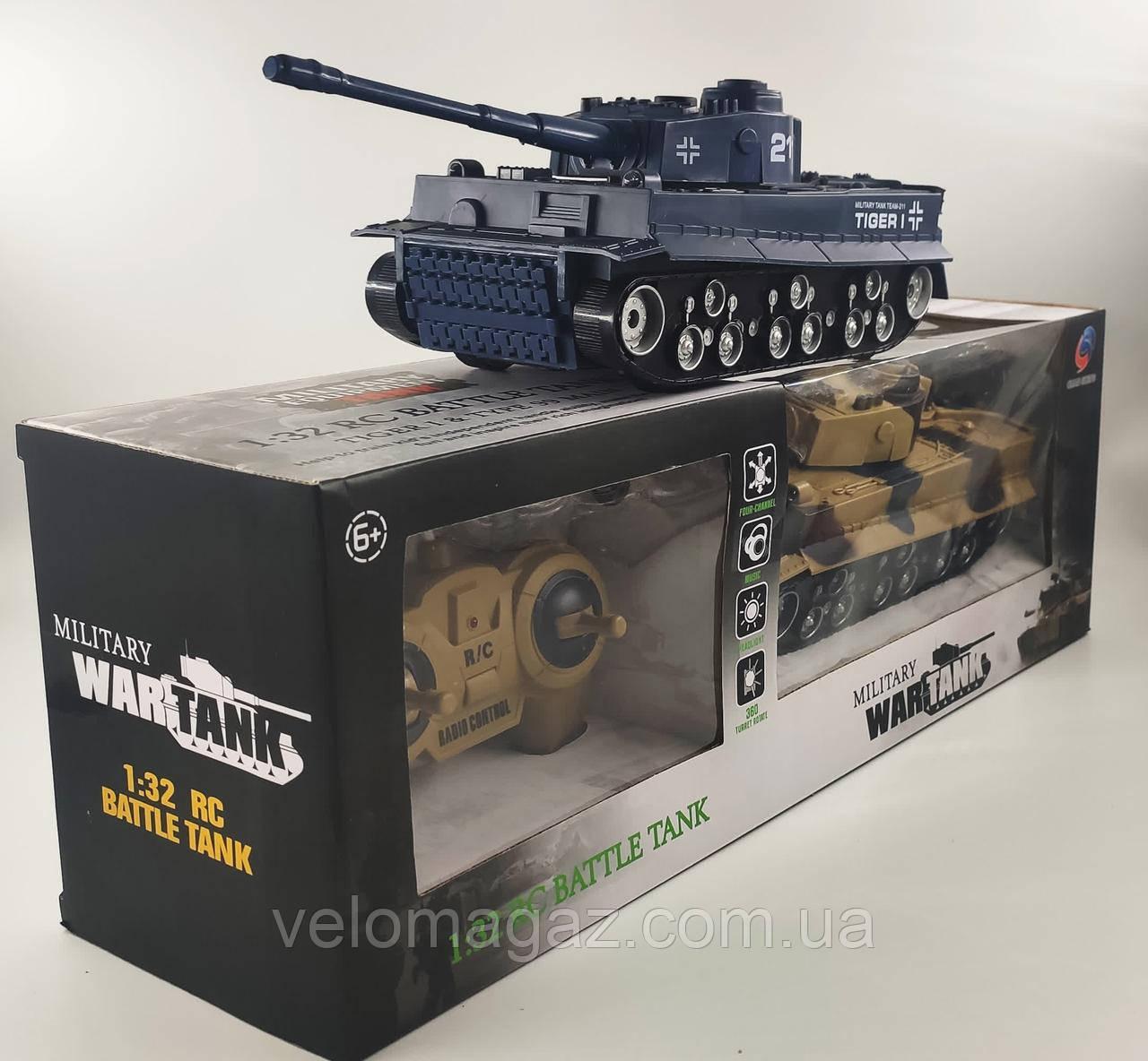 Игрушечный танк на радиоуправлении 369-34-36