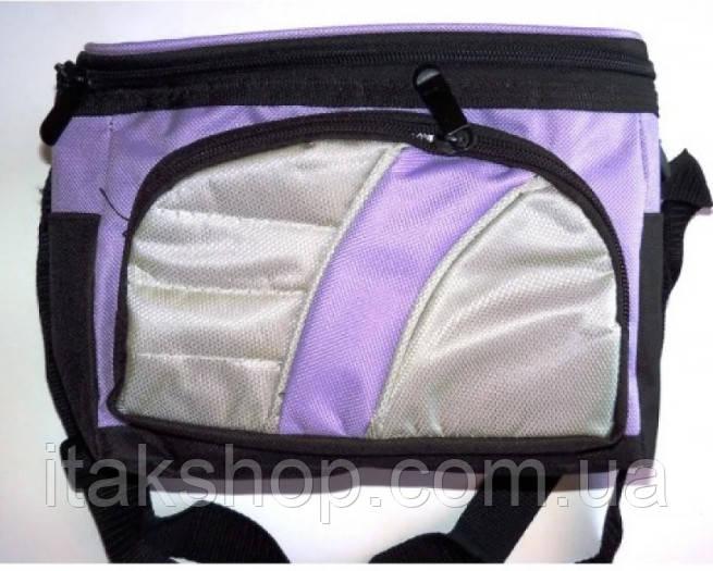 Термосумка Cooler BAG 377-A (13×15×14 см) 4л Сумка холодильник Фіолетова