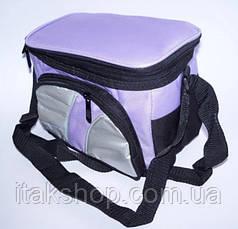 Термосумка Cooler BAG 377-A (13×15×14 см) 4л Сумка холодильник Фіолетова, фото 2