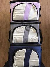 Термосумка Cooler BAG 377-A на 4л Сумка холодильник Сіра, фото 3