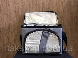 Термосумка Cooler BAG 377-A на 4л Сумка холодильник Сіра, фото 2