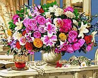 """Картина по номерам. Rainbow Art """"Роскошный букет на столике"""" GX34606-RA"""