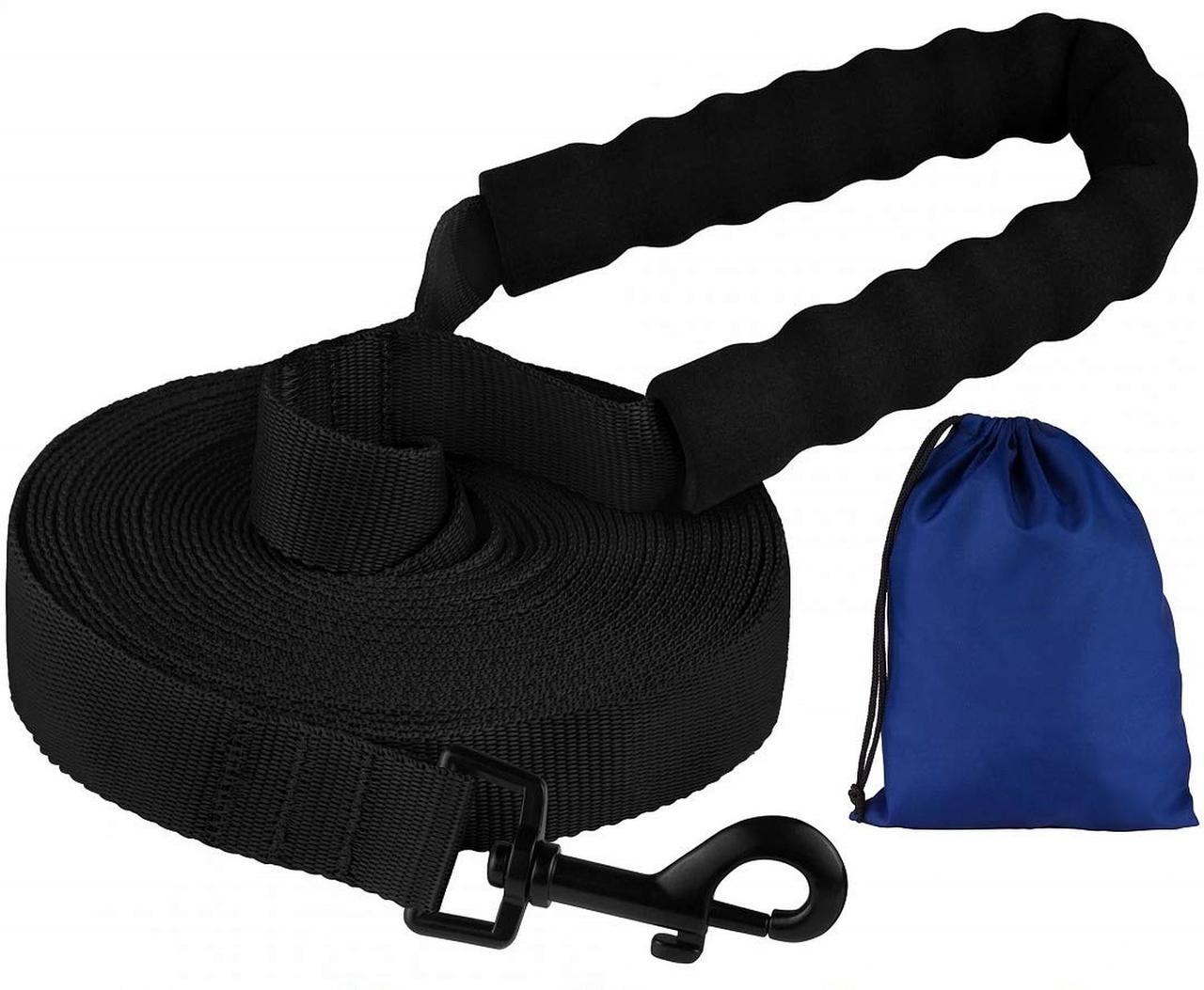 Поводок для Собак Bronzedog Active Нейлоновый с Мягкой Ручкой Черный 6 м