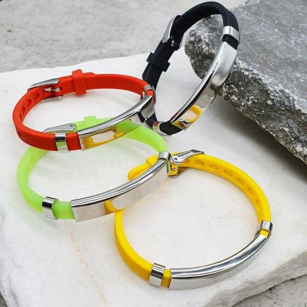 Детские браслеты для безопасности с пластиной под гравировку данных 176089