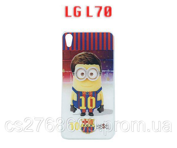 Чехол силікон фото LG L70  Міньйон