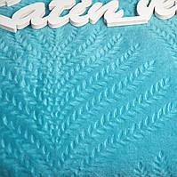 Плед  Мікрофібра блакитний Євро розмір (200*220см)