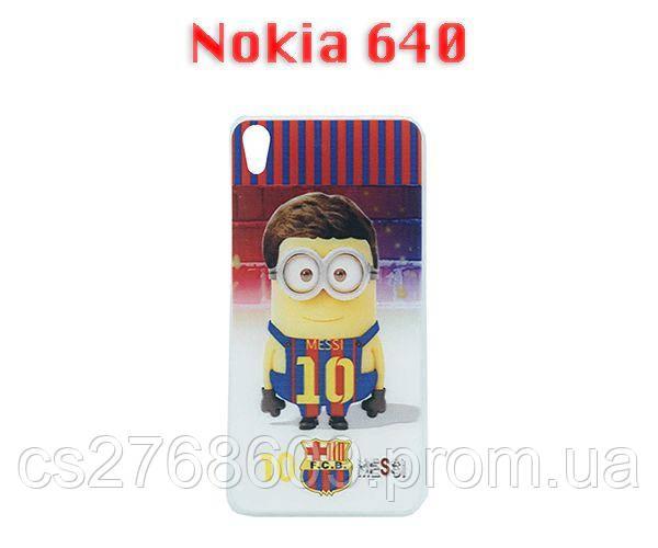 Чехол силікон фото Nokia 640 Міньйон