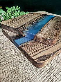 """Доска деревянная для подачи блюд """"Blue ocean"""" доска 99"""