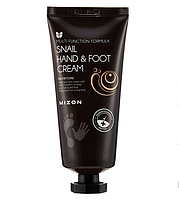 Гіалуронова інтенсивно зволожуючий крем Mizon Hand and Foot Cream - Snail 100 мл