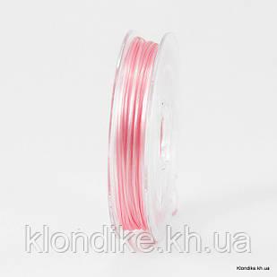 Нить Упругая Эластичная, 0.8 мм, Цвет: Розовый (10 метров)