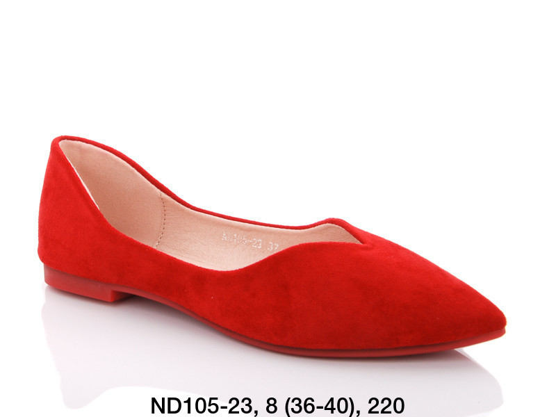 Балетки женские красные Teetspace-Trasta-Egga-ND105-23