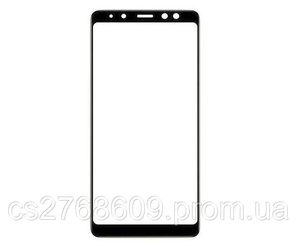 Защитное стекло захисне скло Samsung A730, A8 Plus 2018 чорний 5D (тех.пак)
