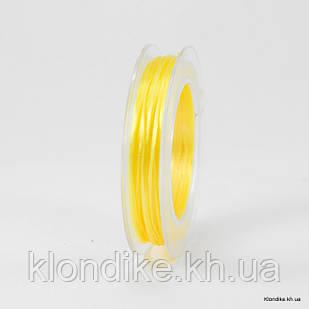 Нить Упругая Эластичная, 0.8 мм, Цвет: Золотистый (10 метров)