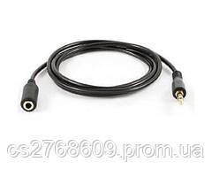 Audio-подовжувач 3,5мм-3,5мм 1м в асортименті