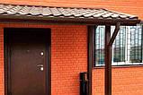 Сайдинг під цеглу Слов'янка фарбований червоний 1,84 м, фото 4