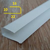 Торцевая планка для ПВХ панелей толщиной 10 мм L-образный длина 3 м Белый, фото 1