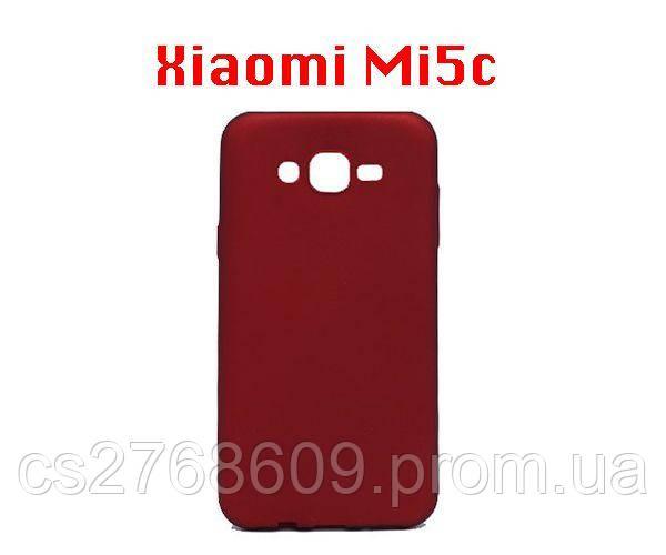 """Чехол силікон """"VIP"""" Xiaomi Mi5c червоний блістер"""