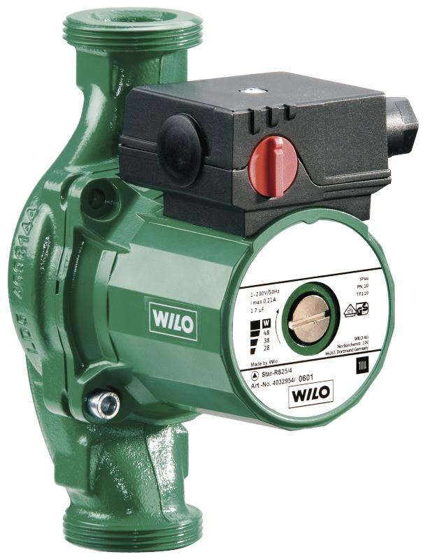 Wilo Star-RS 25/4-130 - Циркуляционный насос для систем отопления