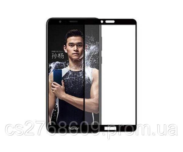 Защитное стекло захисне скло Huawei Honor 7x, BND-L21 чорний (тех.пак)