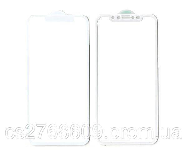 """Защитное стекло захисне скло iPhone X, iPhone XS 5.8"""", iPhone 11 Pro білий 5D (тех.пак)"""