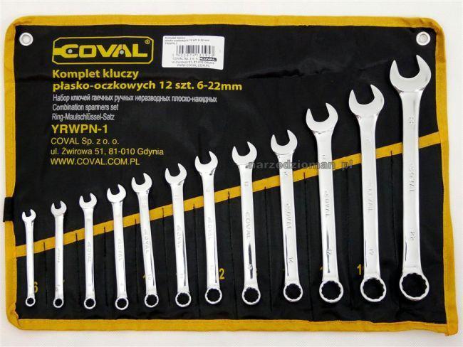 Набор рожковых накидных ключей Coval 6-22 мм 12 шт