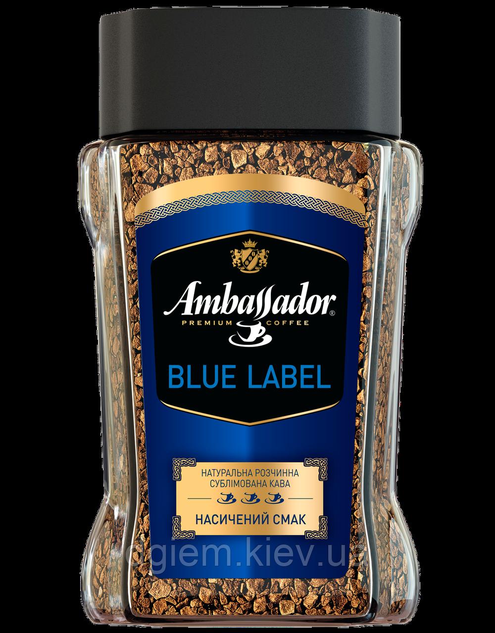 Кофе растворимый Ambassador Blue Label 190г стекло