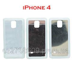 """Чехол силікон """"Дзеркальний"""" iPhone 4 в асортименті"""