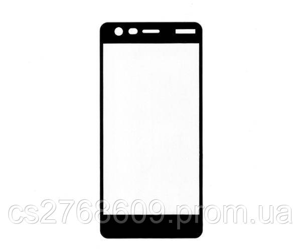 Защитное стекло захисне скло Nokia 2 old чорний 5D (тех.пак)