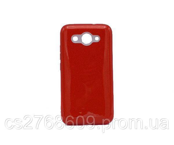 Чехол силікон Бльостки Samsung J330, J3 2017 червоний