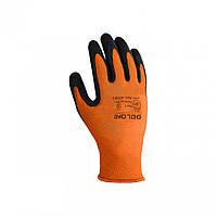 Перчатки рабочие, оранжевые с неполным латексным покрытием арт.4556 тм Doloni, фото 1